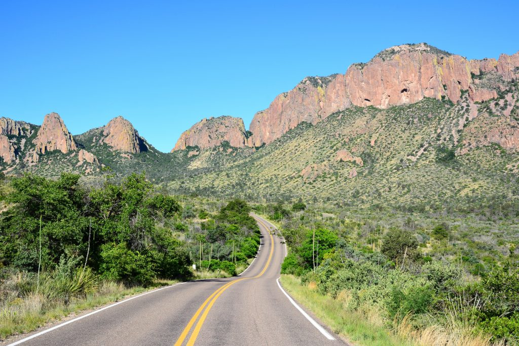 Road through Big Bend National Park, one of the best Texas road trip ideas