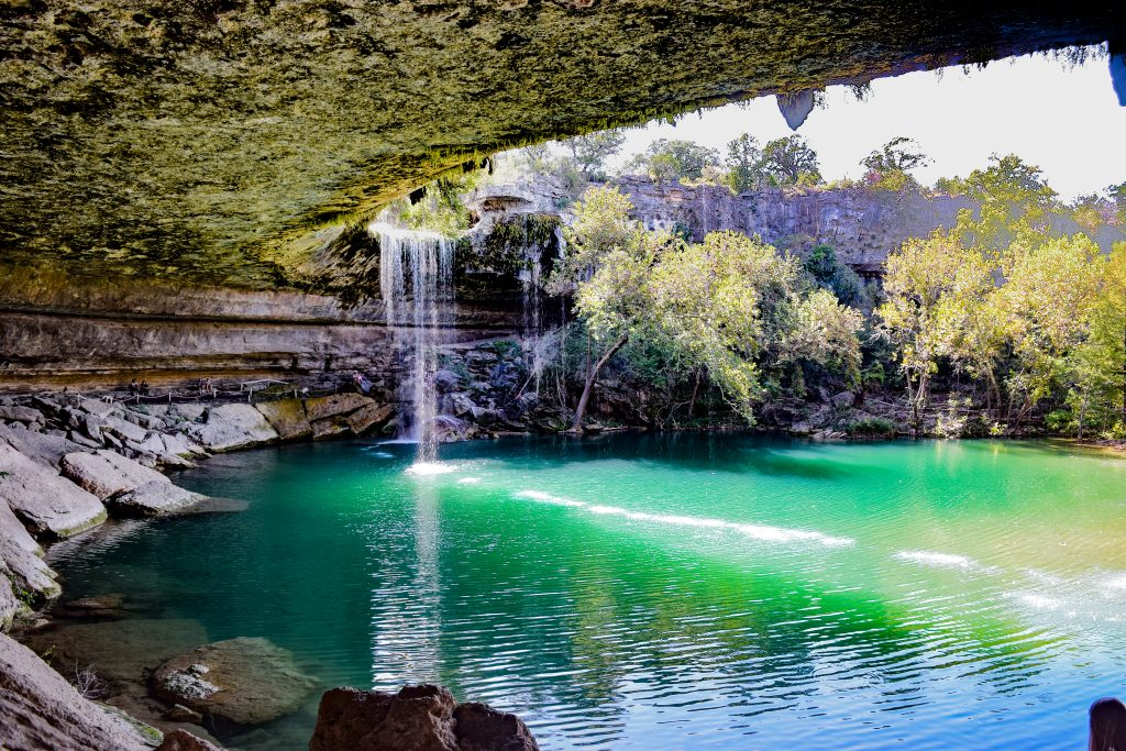 Hamilton Pool Preserve in Dripping Springs Texas, a fun part of some of the best road trips in Texas