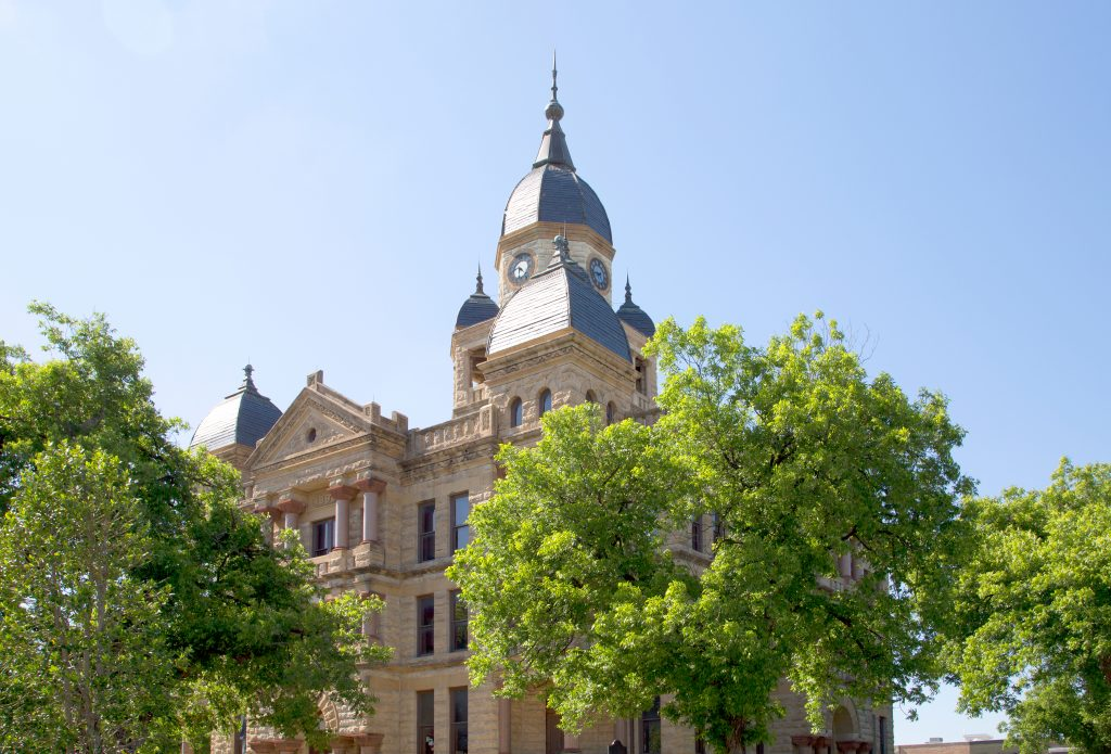 19th century courthouse in Denton Texas, a great Dallas day trip idea