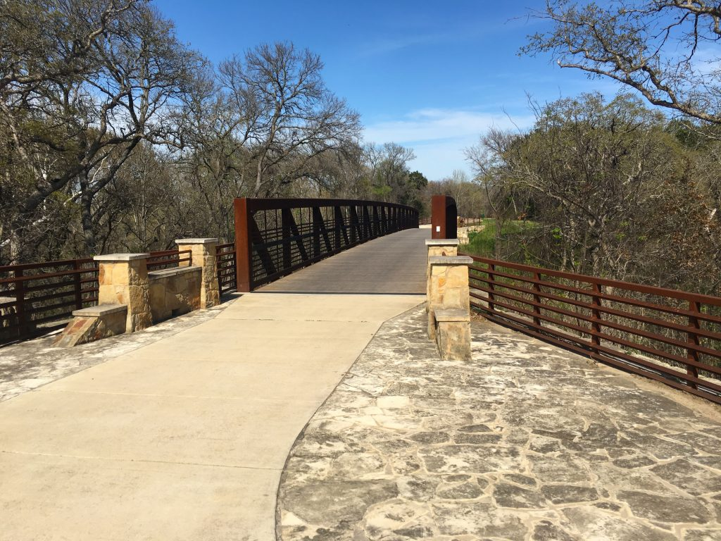 paved bridge over brushy creek on the brushy creek regional trail round rock texas
