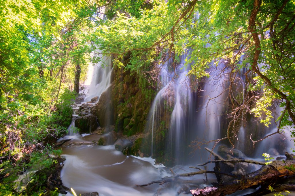 Gorman Falls in Colorado Bend State Park, one of the best waterfalls in Texas