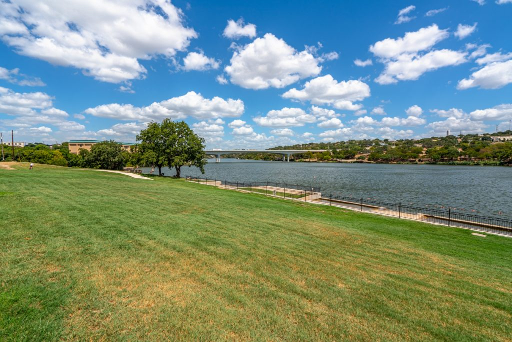 Lake Marble Falls as seen from Lakeside Park, one of the most popular Marble Falls attractions