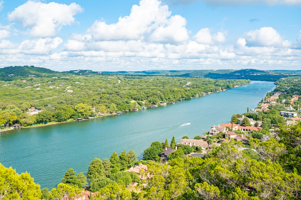 View of Lake Austin From Mount Bonnell, one of the most popular things to do in Austin TX