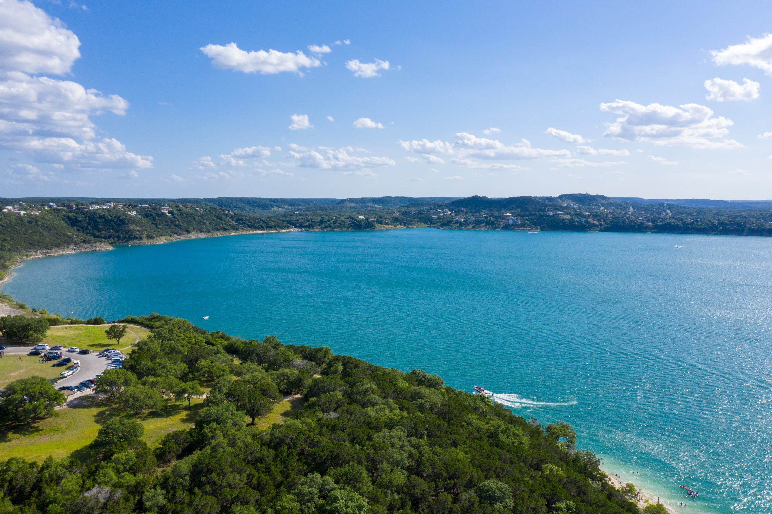 Canyon Lake TX as seen from above. Seeking out views like this are some of the best things to do canyon lake texas
