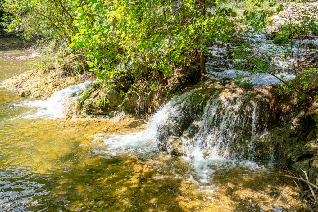 small waterfalls spicewood springs in texas colorado bend