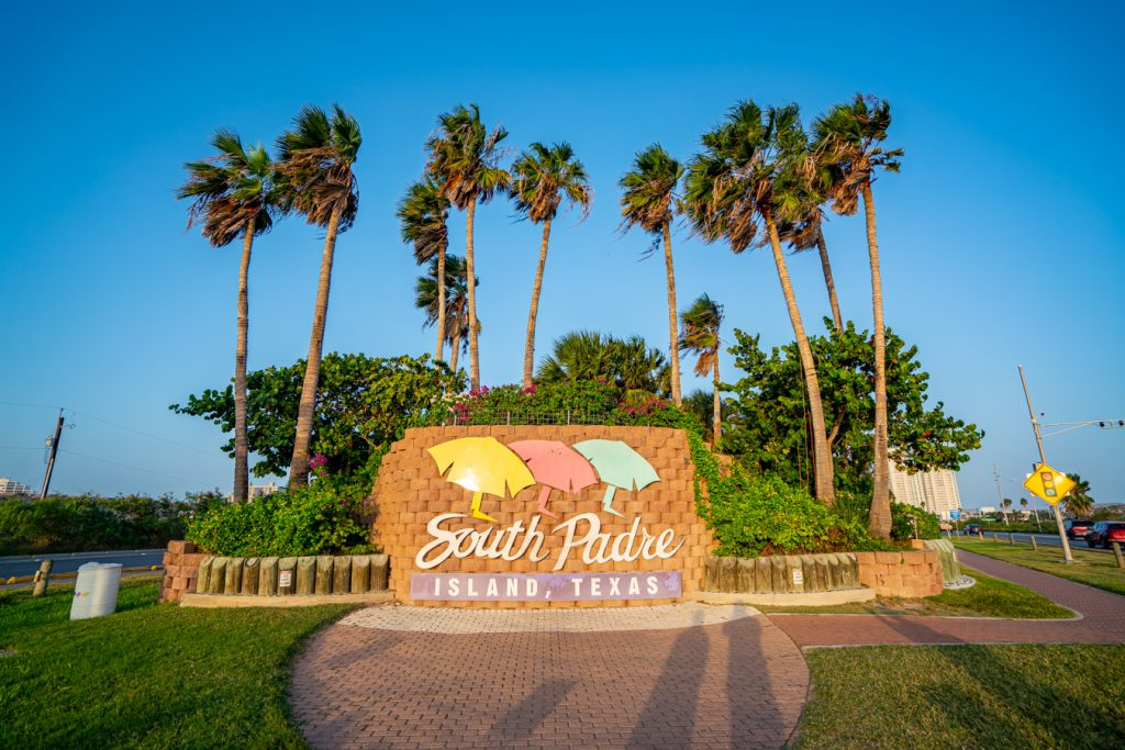 South Padre Island welcome sign near sunset, one of the most instagrammable places on south padre island