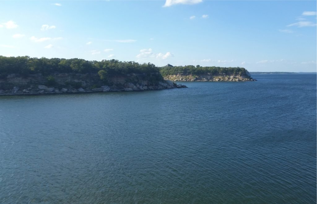 lake texoma as seen from above
