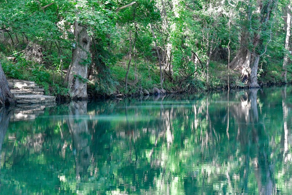 Calm water at Inks Lake State Park Texas