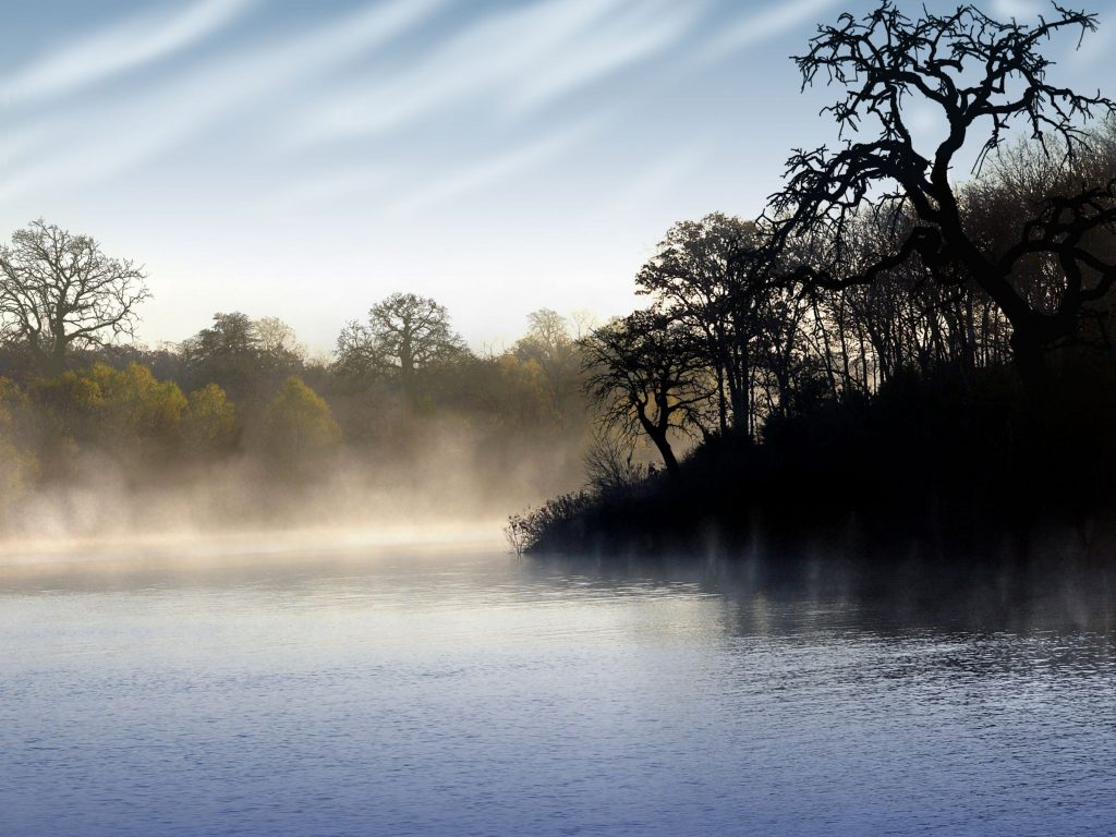 Morning fog on Lewisville Lake, one of the best places to go camping near dallas tx