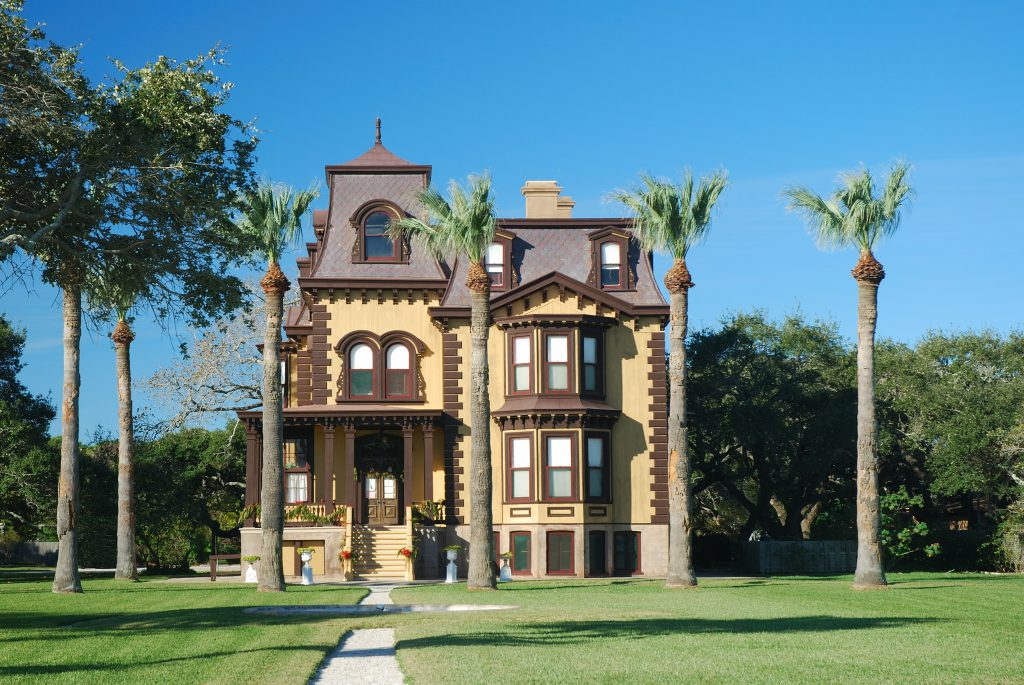 Fulton Mansion from the outside, one of the best things to do in rockport tx