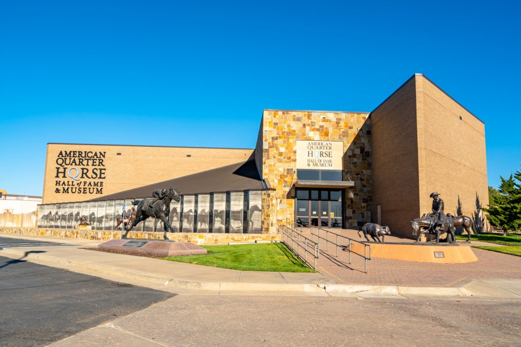 Exterior of the American Quarter Horse Hall of Fame, one of the best museums in Amarillo TX