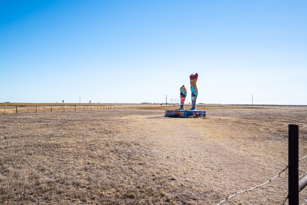 Ozymandias on the Plains statue, one of the most unusual amarillo attractions