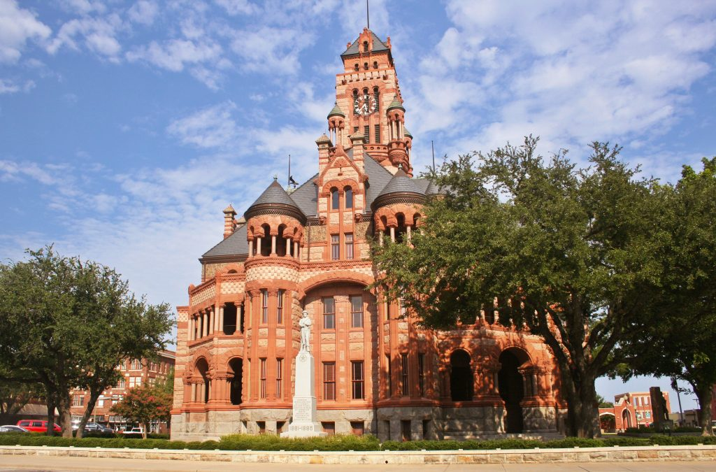 Ellis County Courthouse in Waxahachie Texas
