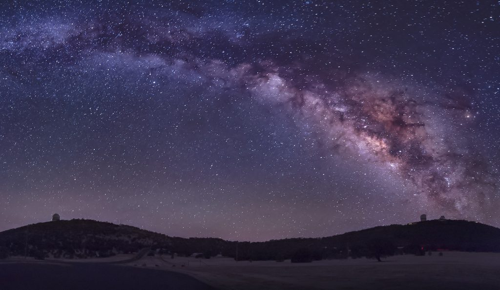 Milky Way as seen at night from the McDonald Observatory, one of the most unique places to visit in Texas and a bucket list Texas travel destination