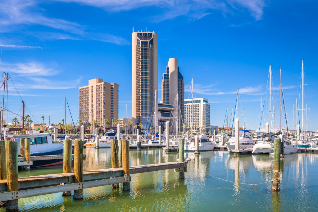 harbor of corpus christi texas. there are several fun museums in corpus christi tx