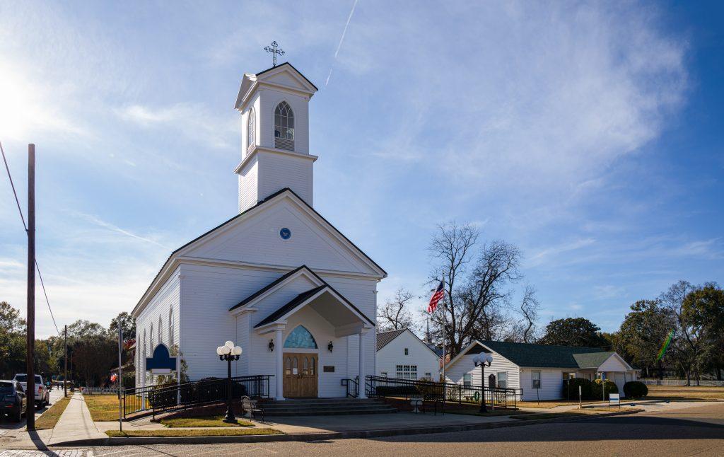 historic white methodist church of jefferson tx