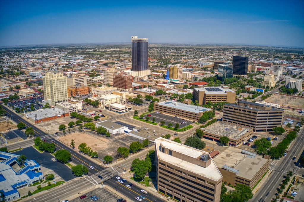 Downtown skyline of amarillo texas