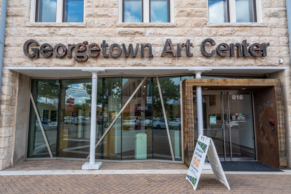 front facade of georgetown art cener, which belongs on any list of what to do in georgetown