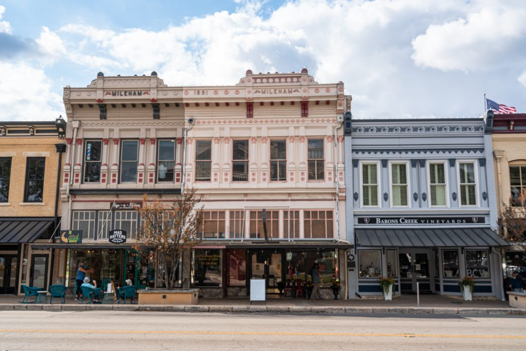 victorian buildings on georgetown square, one of the best things to do in georgetown tx