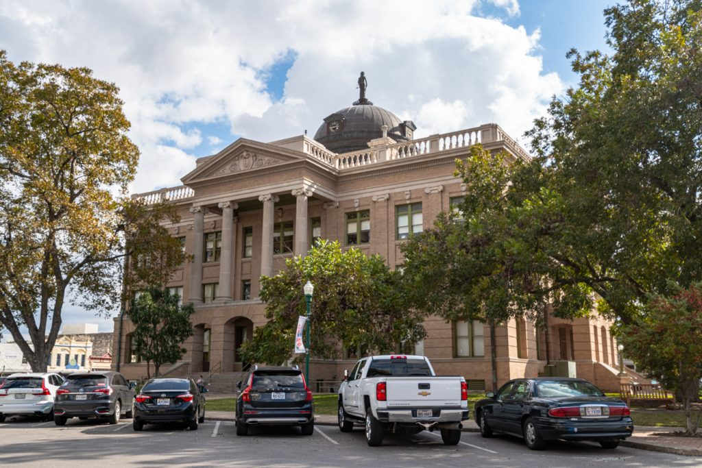 historic williamson county courthouse on the square, one of the best places to visit in georgetown tx