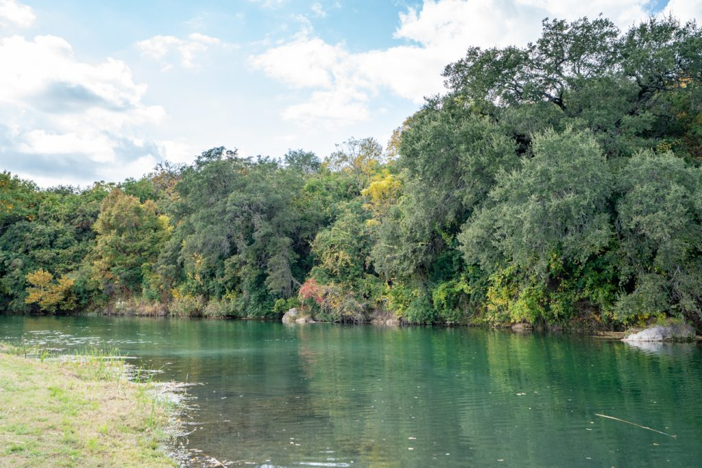 blue hole on san gabriel river, one of the best attractions in georgetown texas