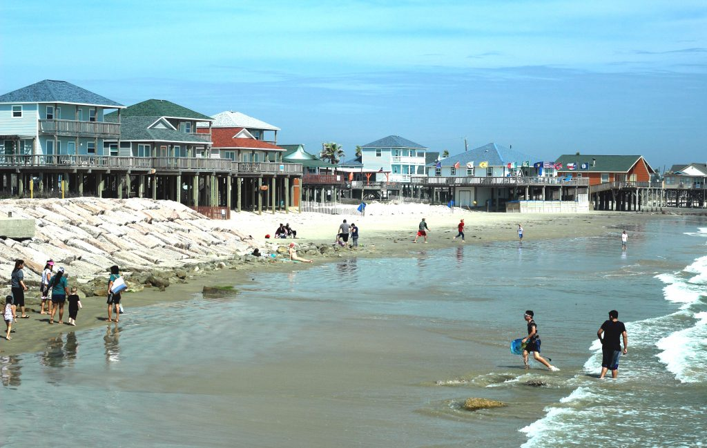 surfside beach near the jetty, one of the best beaches close to corpus tx
