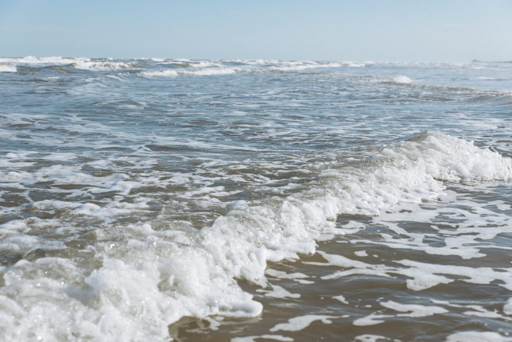 gulf coast waves in mustang island state park, one of the best beaches near corpus christi texas