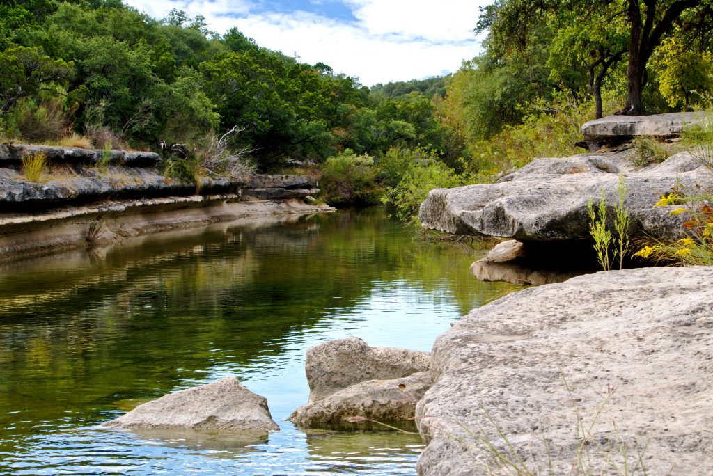 bull creek in austin texas as seen from the shore