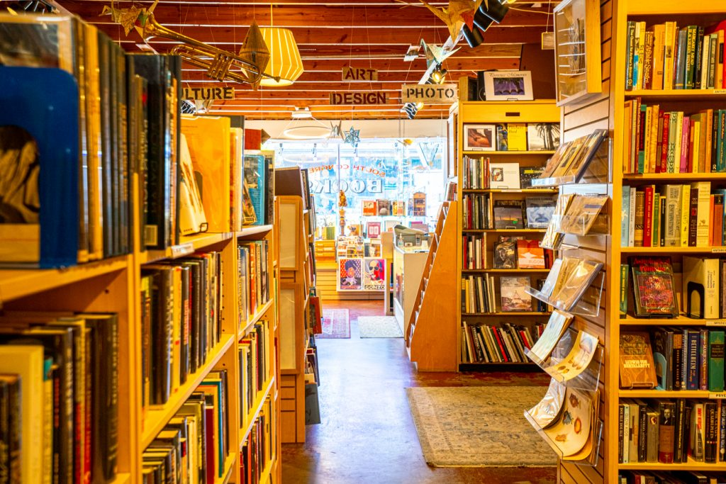 interior of south congress books, one of the best places for shopping south congress austin