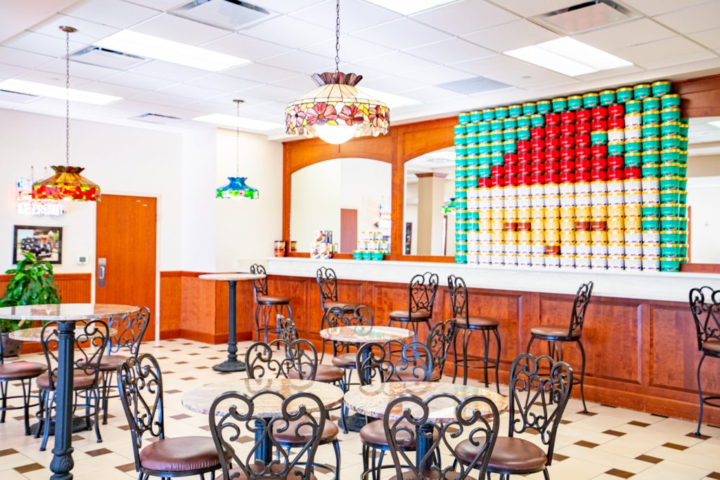 interior of ice cream parlor