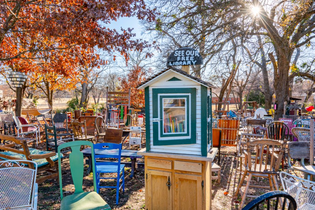little free library in chairy orchard, one of the most fun things to do in denton texas