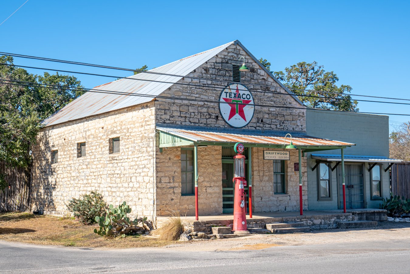 historic texaco stand, one of the best places to visit in driftwood tx