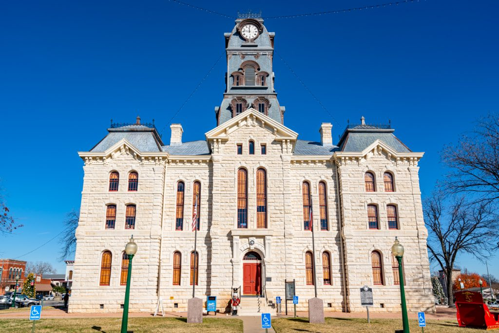 downtown courthouse in granbury tx, one of the most beautiful small towns in texas