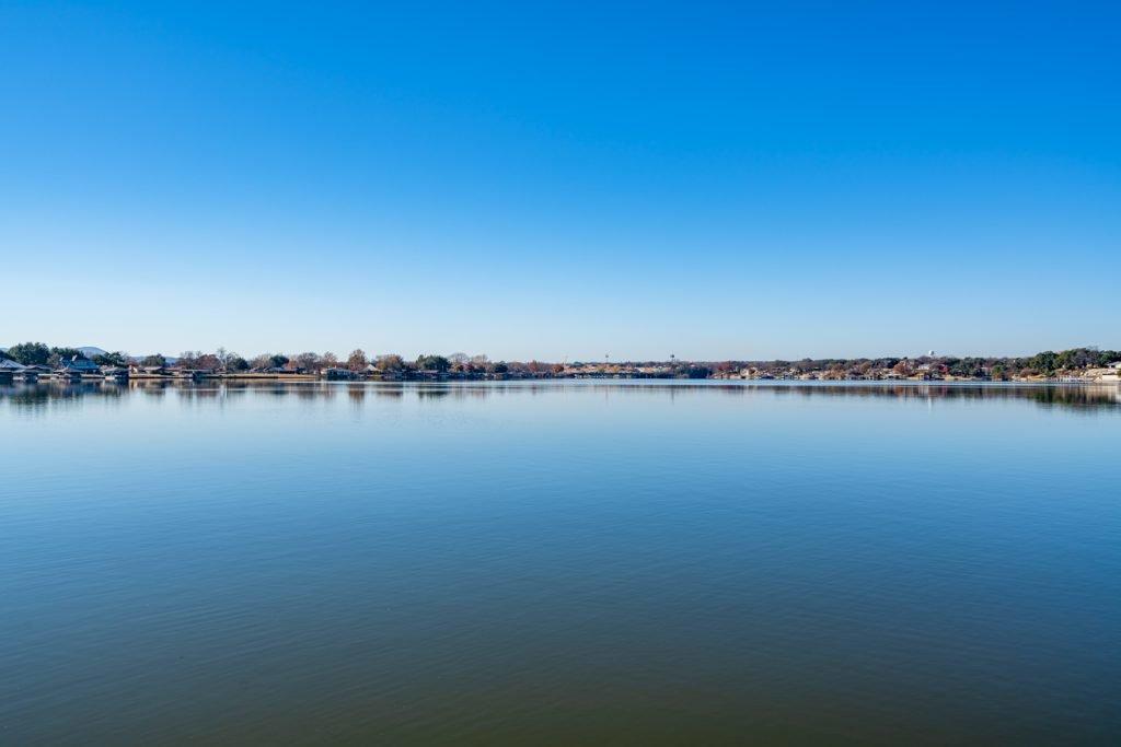 lake granbury texas as seen on a sunny day
