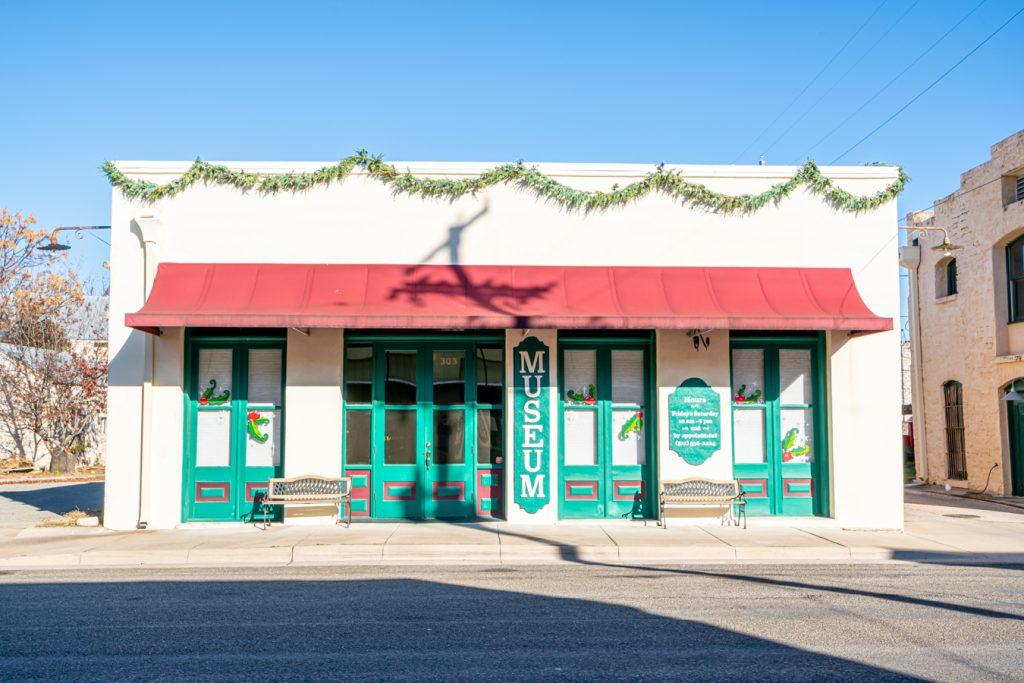 front facade of lampasas county museum