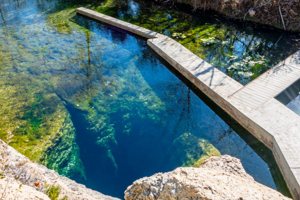 jacobs well texas as seen from above on a sunny day