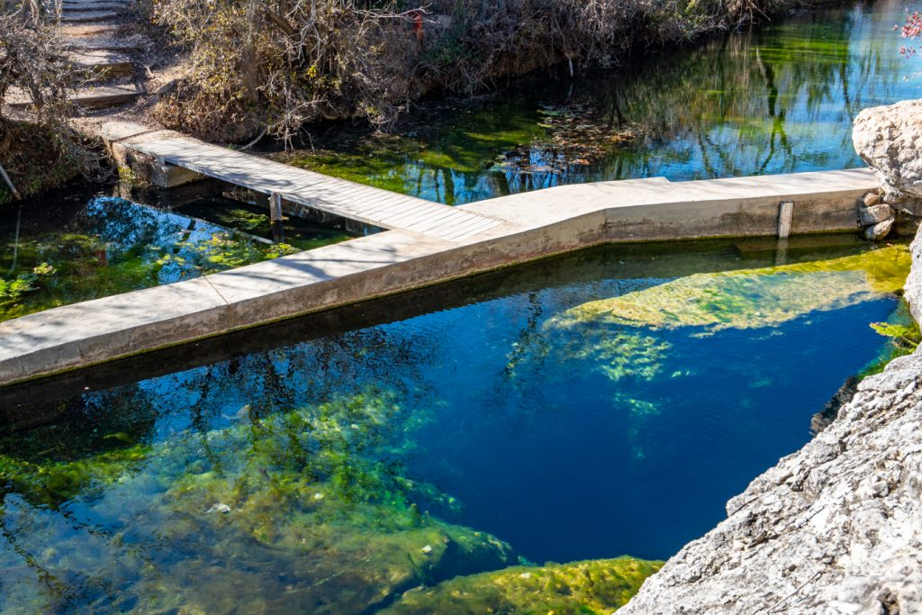jacobs well as seen from the side in wimberley texas