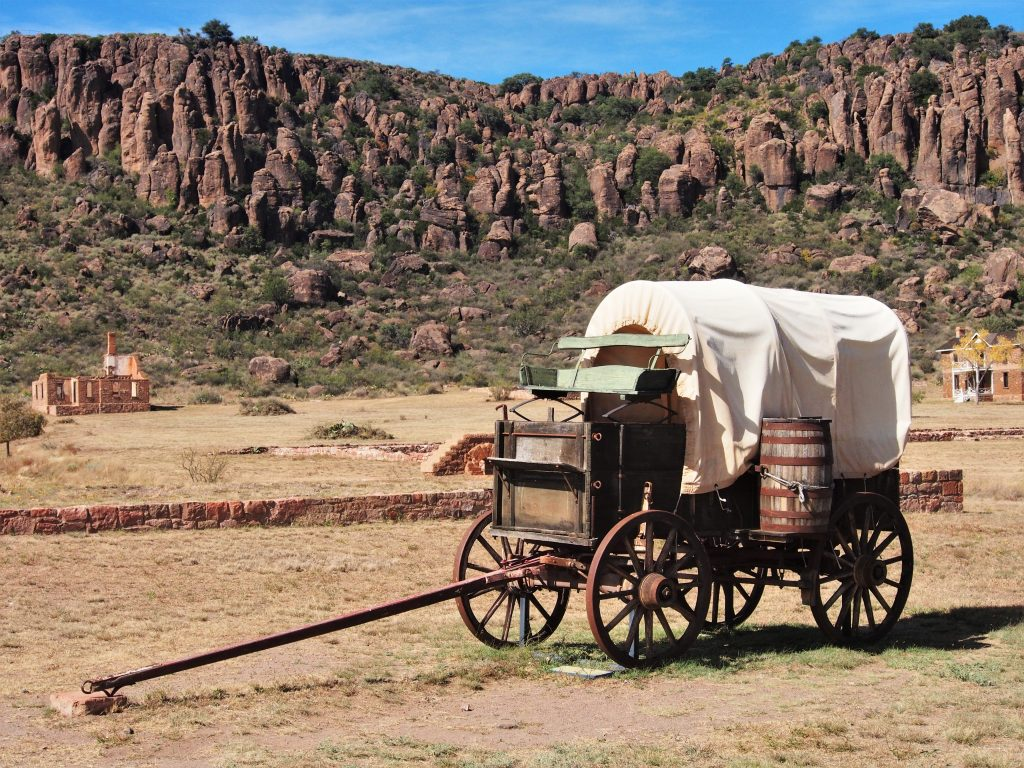 covered wagon at fort davis, one of the west texas attractions to see