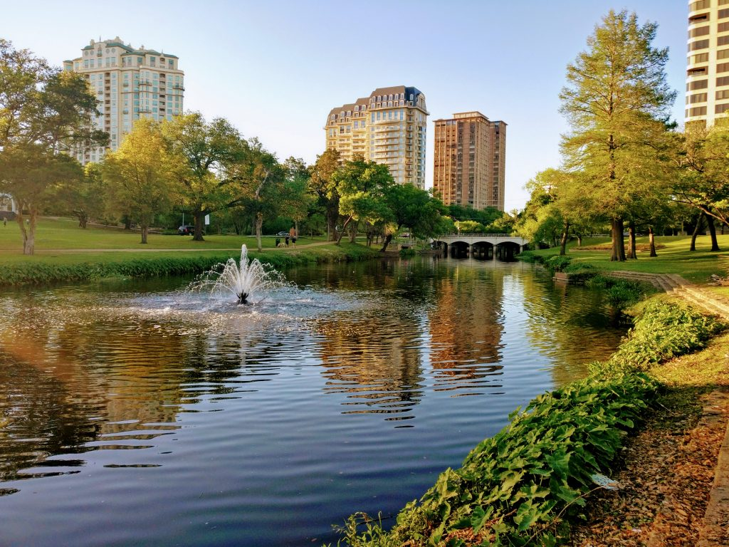 small pond along the katy trail, one of the most romantic things to do in dallas for couples