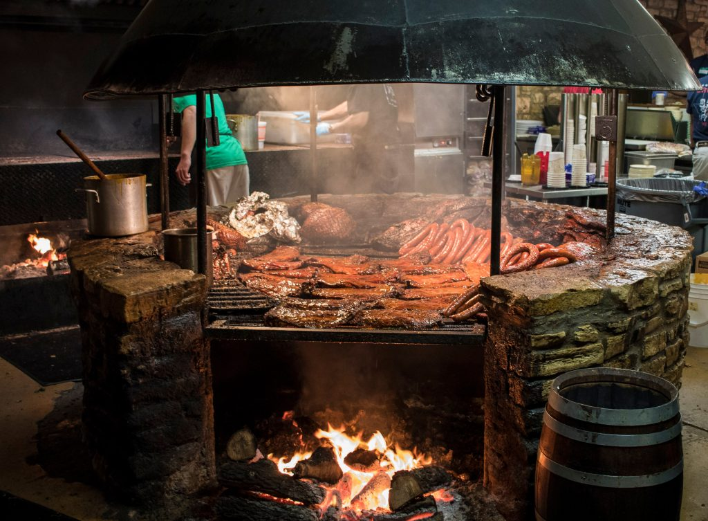 round smoker at salt lick bbq, one of the best things to do in driftwood tx