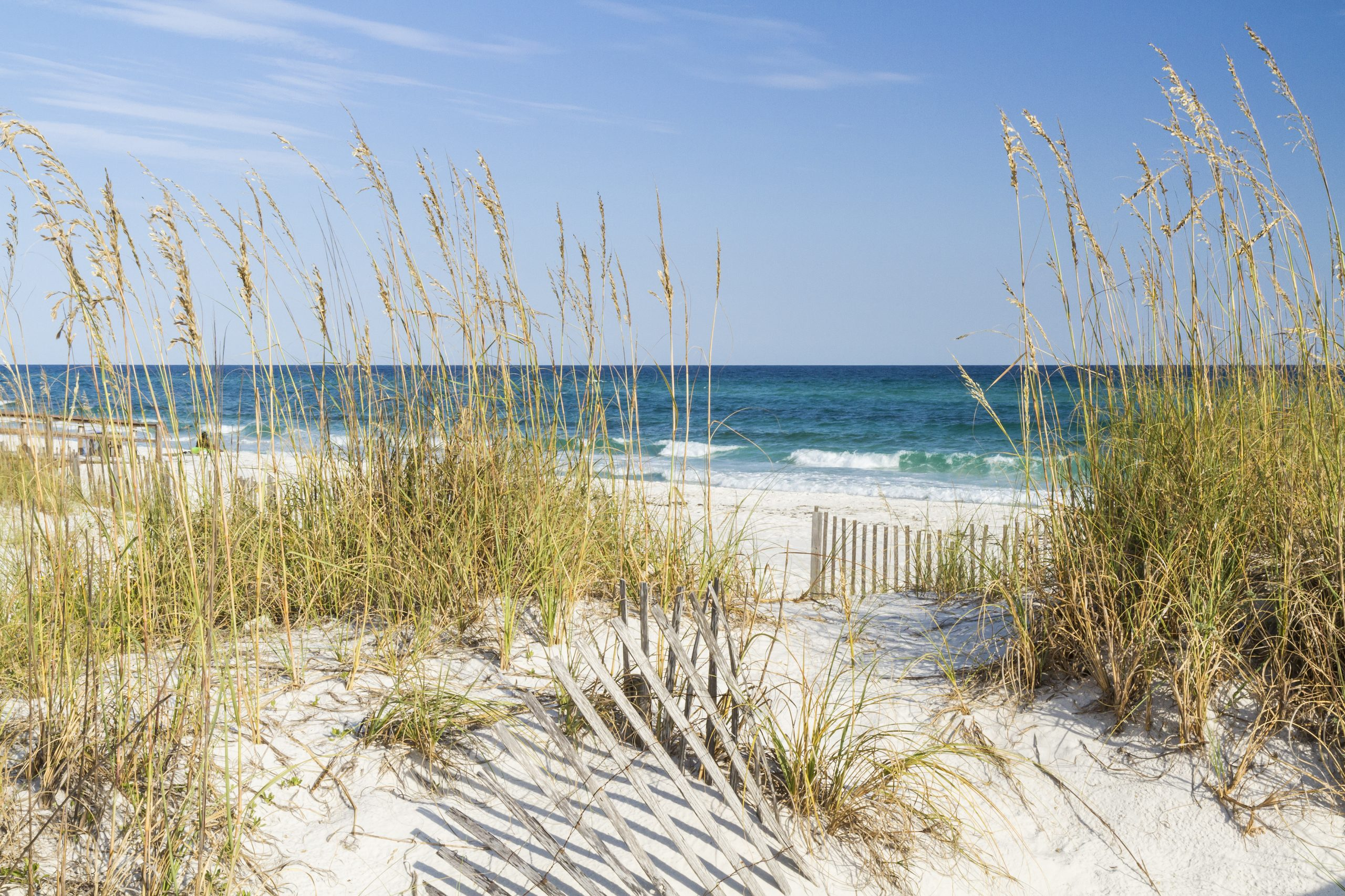 white sand beach in pensacola beach florida, one of the best weekend getaways from houston texas