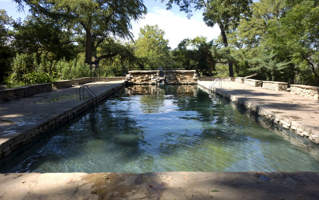 swimming pool at krause springs in spicewood texas