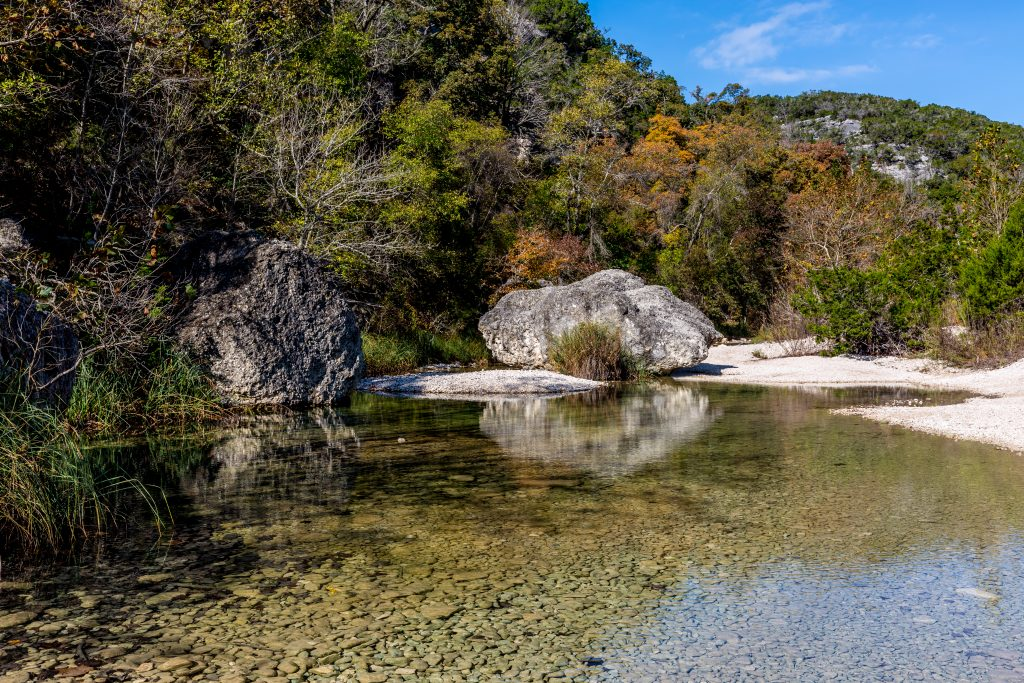 sabinal river in lost maples state park tx