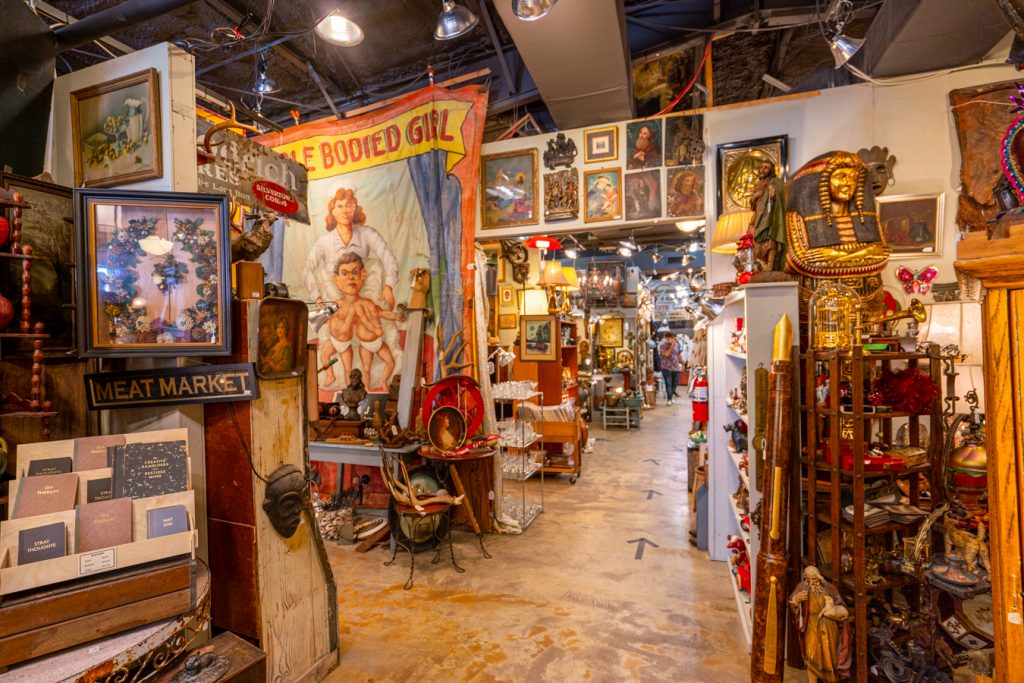 interior of uncommon objects, one of the best places for antique shopping in austin tx