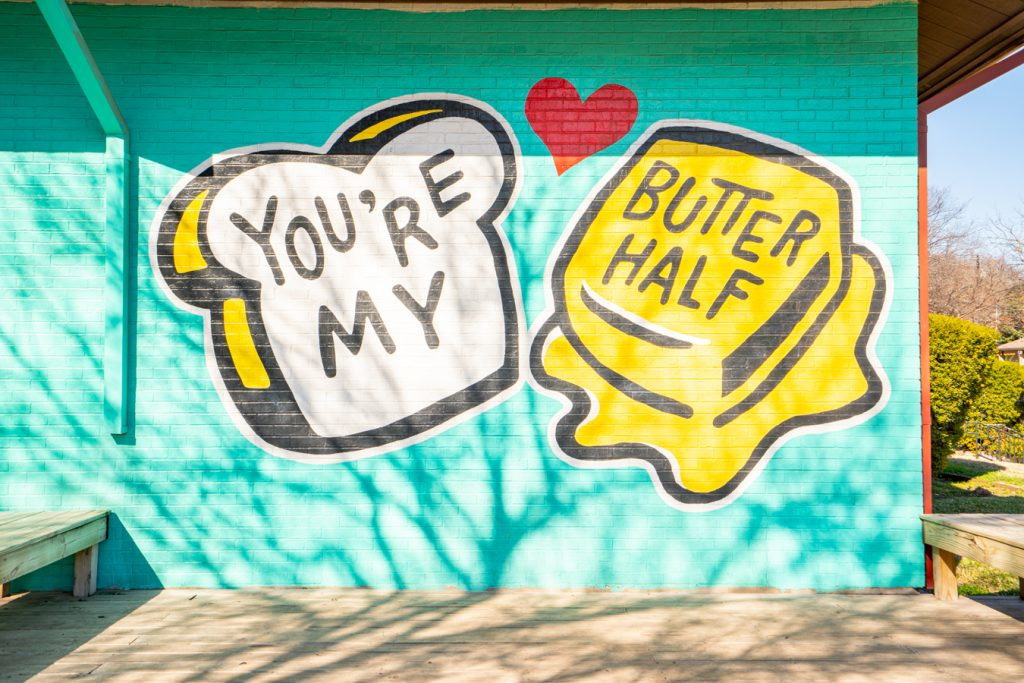 you're my butter half mural, one of the best austin date ideas