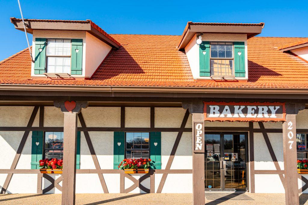 front facade of alsatian bakery in castroville texas