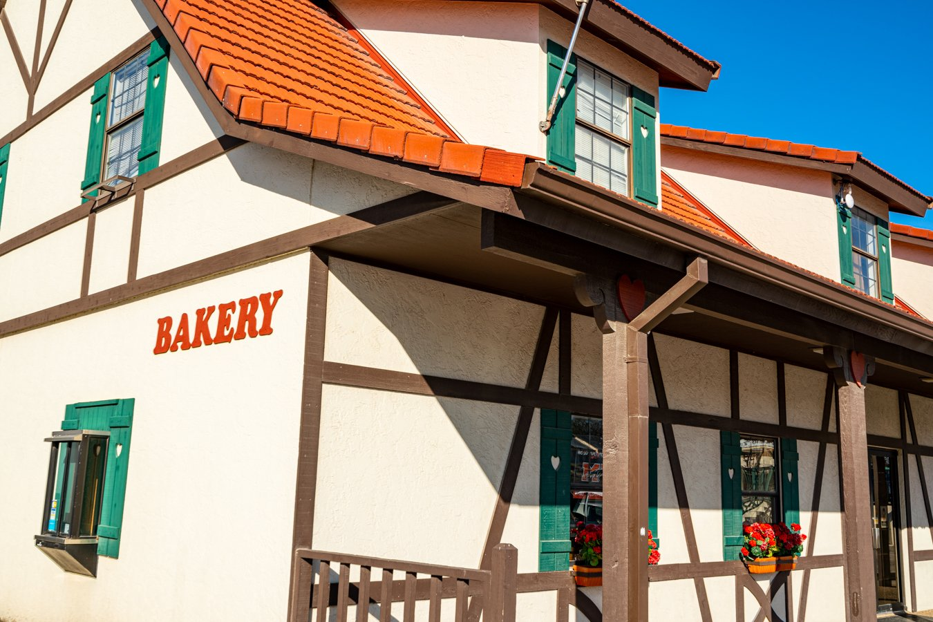 side view of habys alsatian bakery, one of the best places to visit in castroville texas
