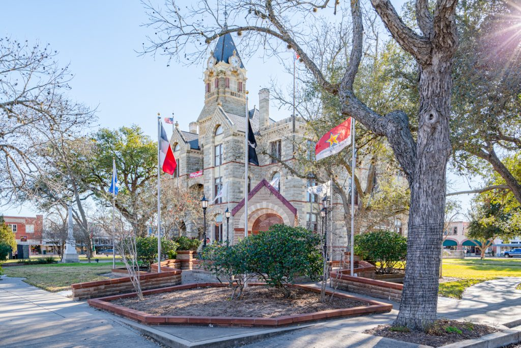 """courthouse of la grange texas, the song is celebrated in the famous texas songs """"la grange"""""""