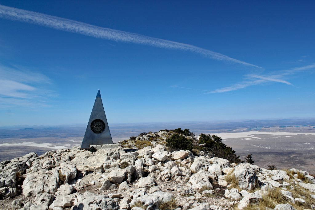 summit of guadalupe peak trail, one of the best hikes in guadalupe mountains national park texas