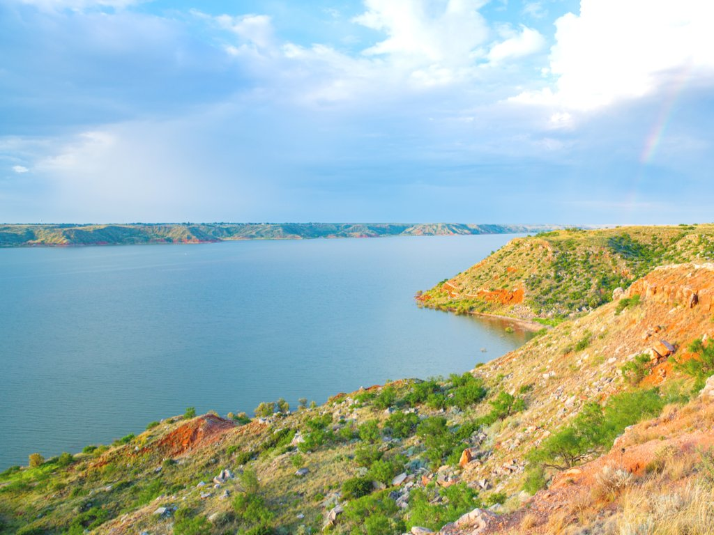 lake meredith in the texas panhandle, a texas national park service property